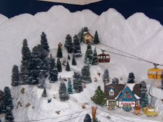 urbanchristmas decorating ideas christmas villages one more time http . Christmas Decorations Uk, Elegant Christmas Trees, Christmas Village Display, Christmas Town, Christmas Lanterns, Christmas Fairy, Miniature Christmas, Christmas Villages, Christmas Themes