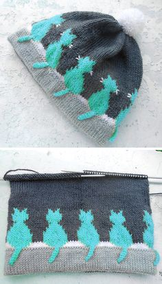 White whiskers (Cats white whiskers) - Knitting Pattern : Knitting Pattern White whiskers (Ca Easy Knitting Patterns, Knitting For Kids, Double Knitting, Free Knitting, Baby Knitting, Crochet Patterns, Knitted Blankets, Knitted Hats, Crochet Hats