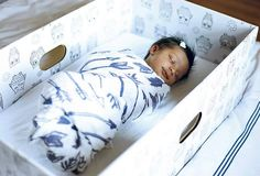 The Finnish tradition of a cardboard baby box designed to promote safe sleep is now available in Australia with the arrival of The Baby Box Co.