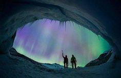 Preciosos Glaciares en la noche de Canada