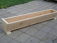 """48"""" cedar wood flower box $41"""
