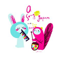 A song for Japan #illustration #cute