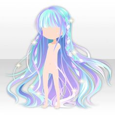A blue Shiny Stained Glass Braided Long Ha Pelo Anime, Chibi Hair, Manga Hair, Hair Sketch, Estilo Anime, Fantasy Hair, Fantasy Makeup, Cocoppa Play, Hair Reference