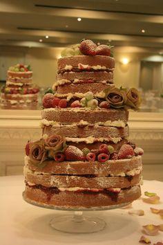 Naked wedding cake - Swanley