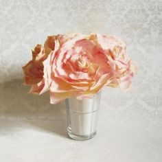 Make your own paper roses out of coffee filter and watercolor