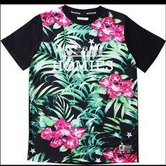 BRAND NEW Floral Homies Tee Reason brand. Rare homies tee. Floral pattern. Unisex t-shirt. Size medium Obey Tops Tees - Short Sleeve