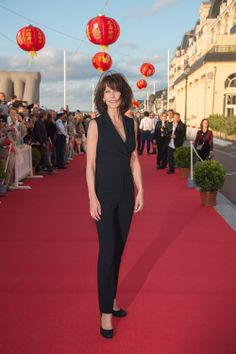 Sophie Marceau wears ELIE SAAB Ready-to-Wear Fall Winter 2014-2015 to The 28th Cabourg Film Festival in France.