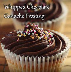 heavy cream + semisweet chocolate = Whipped Chocolate Ganache Frosting