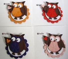 In Colour Owls De här är både fina och användbara Owl Punch Cards, Paper Punch Art, Owl Parties, Owl Card, Craft Punches, Halloween Cards, Stampin Up Cards, Making Ideas, Craft Projects