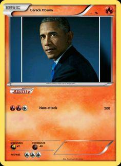 Barack Obama Pokémon card.
