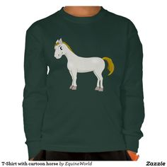 T-Shirt with cartoon horse