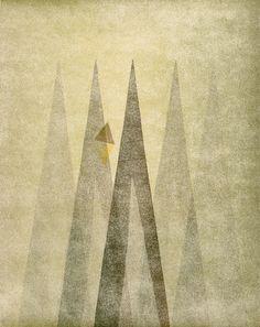 Harry Bertoia. Untitled. Monoprint. ca. 1942 - Guggenheim Museum