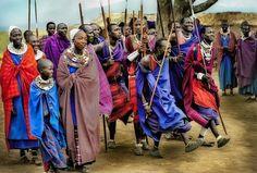 Masai Warriors Dancing Adumu