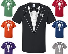 Funny Tuxedo T-Shirt Funny Wedding Gift Groom Tux Man Of Honor Prom Bachelor Party