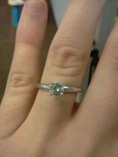 This is my engagement ring!!! It's so perfect!