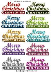 10 Frohe Weihnachten & Happy New Year Banner
