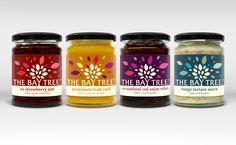 """After Hours has rebranded The Bay Tree Foods' range of artisan pickles, chutneys, sauces and preserves. The studio has also redesigned its packaging, making the tree brand mark """"central to the label's architecture"""". A canopy of leaves has been developed, which aim to symbolise """"flourish and dynamism"""", says the studio, while colour has been incorporated …"""
