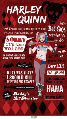Quotes by the always vexing Harley Quinn in time for the Suicide Squad premiere!