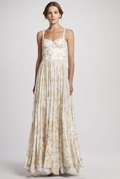 Alice + Olivia Yarra Bustier Maxi Dress available at Bergdorf Goodman for $495.00