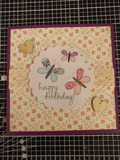 Craftwork Cards butterfly birthday