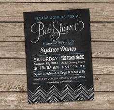Items similar to Baby Shower Invitation : Chalkboard Style Baby Shower Invitation - Boy on Etsy Baby Shower Invitations For Boys, Party Invitations, Invitation Ideas, Jordan Baby Shower, Target Baby, Rustic Photography, Welcome Baby, New Baby Products, Christmas Cards
