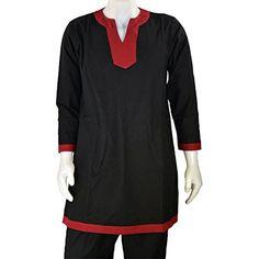 Armor Venue Medieval Tunic  Costume Shirt LARP Black w Red Trim Medium *** Visit the image link more details.