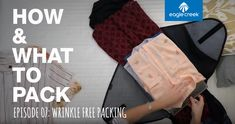 There's no reason that having wrinkled clothes should be a part of traveling! At Eagle Creek, we have the Pack-It System (packing cubes and clothing folders).