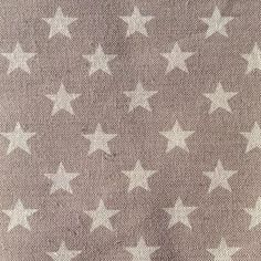 grey star linen curtain and blind fabric
