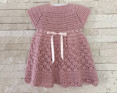 CROCHET PATTERN, Stacy dress, pattern from a newborn up to 10 years