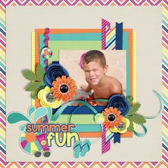 Layout of the Day, August 31, 2016 at Gotta Pixel Digital Scrapbooking Store created with  Summer Days Just So Scrappy