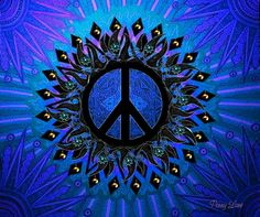 Shades of blue peace Hippie Peace, Happy Hippie, Hippie Love, Hippie Art, Hippie Style, Hippie Things, Hippie Chick, Peace On Earth, World Peace