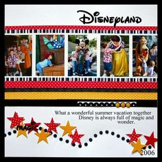 Disney Scrapbook idea - I like the idea of putting quotes on the pages, maybe collect quotes by Walt?