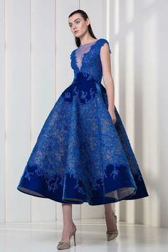 Tony Ward Fall Winter 2017 Ready To Wear Collection - Style Evening Dresses Tony Ward, Couture Dresses, Women's Fashion Dresses, Flower Dresses, Nice Dresses, Chifon Dress, Belle Silhouette, Tea Length Dresses, Beautiful Gowns
