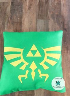 DIY Legend of Zelda Pillow! This is a no sew, no hot glue nerdy craft, but it can be washed in the washing machine!