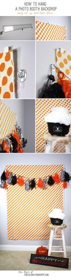 How To Hang A Photo Booth Backdrop – Easy Set-up And Tear-down with @commandbrand | Kim Byers, TheCelebrationShoppe.com #damagefreediy