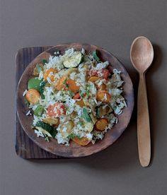 Rizoto s quinoou a pečenou zeleninou