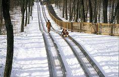 40 Reasons to Love Indiana Winter Pokagon State Park Toboggan Run #Indiana #Winter
