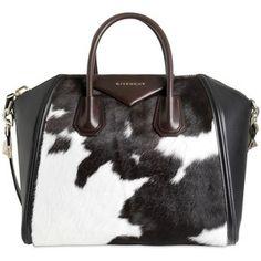 GIVENCHY Antigona Medium Cow Printed Ponyskin Bag