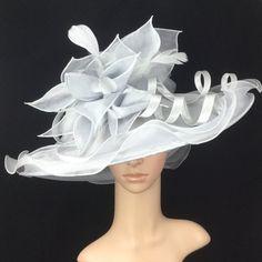 Silver Grey Kentucky Derby Hat Organza Hat Derby HatDress