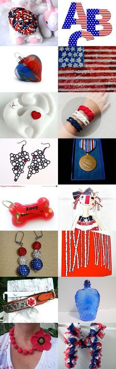 #Memorial #Day! - 2 by ROSE B on Etsy-- #etsy #treasury #red #white and #blue #patriotic #stars and #stripes #4th of #July   Pinned with TreasuryPin.com