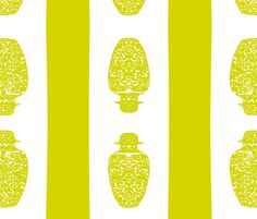 chin green fabric by nascustomwallcoverings on Spoonflower - custom fabric