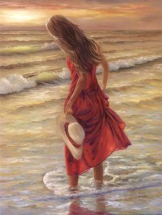 The Red Dress, Art Print by Georgia Janisse