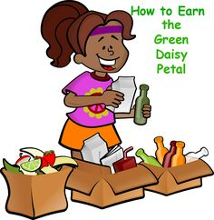 Here is a lesson plan on how to earn the green Daisy petal, Use Resources Wisely.