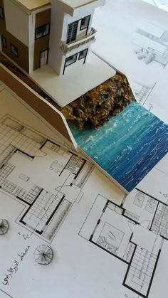 Quick And Easy Landscaping On A Budget - House Garden Landscape Landscape Architecture Model, Architecture Student, Architecture Portfolio, Amazing Architecture, Fantasy Landscape, Architecture Design, Art Nouveau Interior, Unusual Buildings, Arch Model