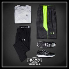 I love under armour gear Nike Outfits, Sport Outfits, Boy Outfits, Fashion Outfits, Sport Fashion, Fitness Fashion, Mens Fashion, Gym Fashion, Outfit Grid