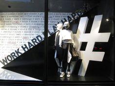 """Harvey Nichols London,""""# WORK HARD,PLAY HARD"""", pinned by Ton van der Veer"""