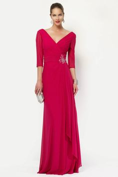 db399e2070e Alyce Paris Special Occasion Collection - 27121 3 4 Sleeve A-line Long Gown