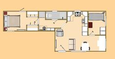 "The floor plan of our 480 sq ft ""Fat 7""."