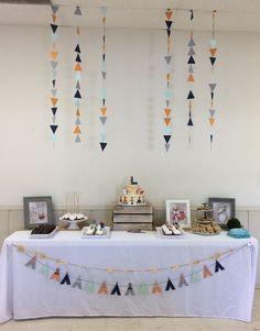 Tribal - Woodland Animal Baby Shower - dessert table! #babyshowerideasdecoracionboys