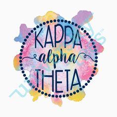 Watercolor design for Kappa Alpha Theta | Made by University Tees | www.universitytees.com